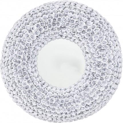 Miroir roses blanches rond 100cm Kare Design