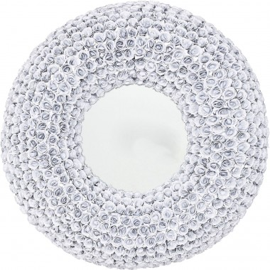 Miroir roses blanches rond 100cm Kare Design