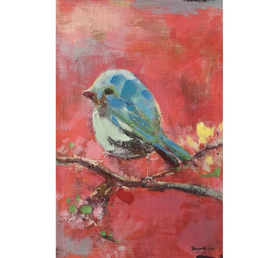 Tableau Touched oiseau rouge 62x42cm Kare Design