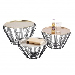 Table basse Bora Wire Set de 3 Kare Design