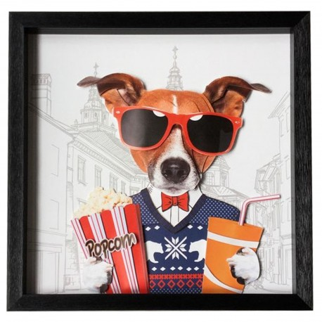 Tableau Frame Art Cinema Dog 50x50cm Kare Design