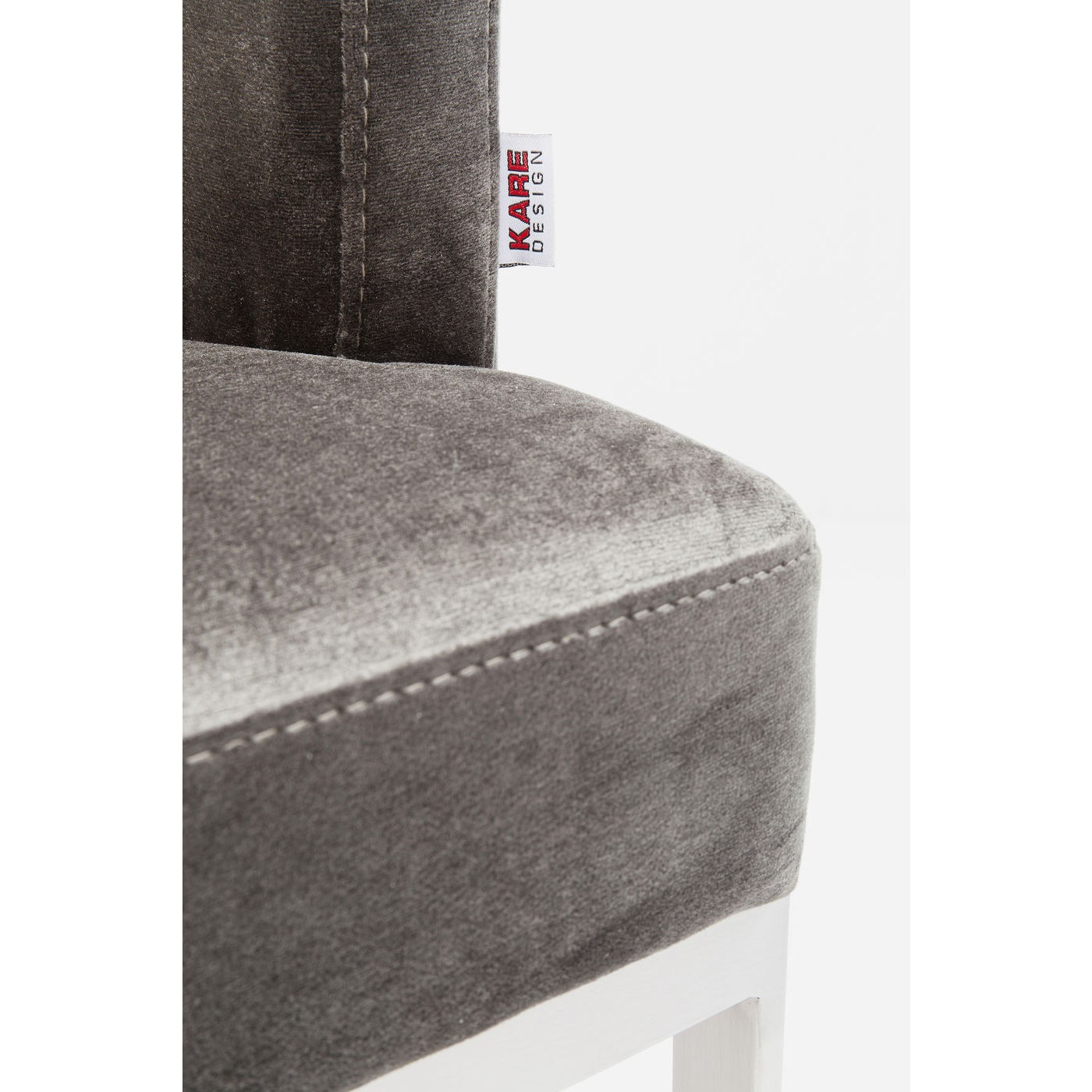 Chaise avec accoudoirs Rumba grise et chrome Kare Design