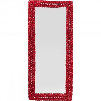 Miroir Rose rectangulaire rouge 180x80cm Kare Design