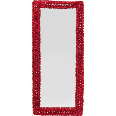 Miroir Rose rectangulaire rouge 180x80cm Kare Design