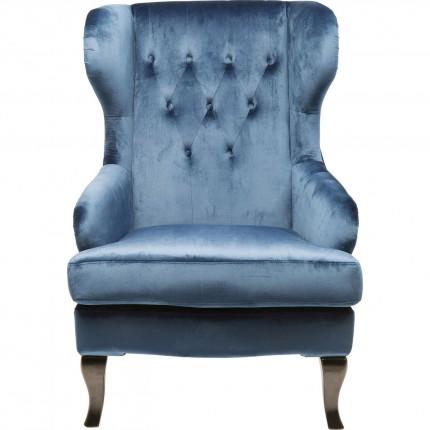 Fauteuil Vintage bleu Kare Design
