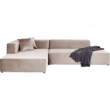 Canapé d'angle Pablo Grande gauche taupe Kare Design