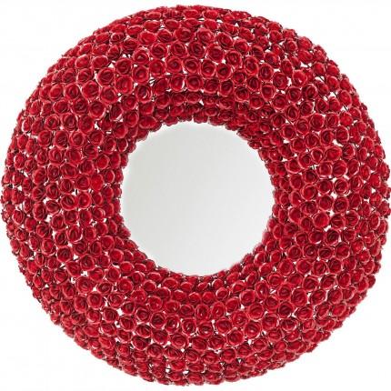 Miroir roses rouges rond 100cm Kare Design