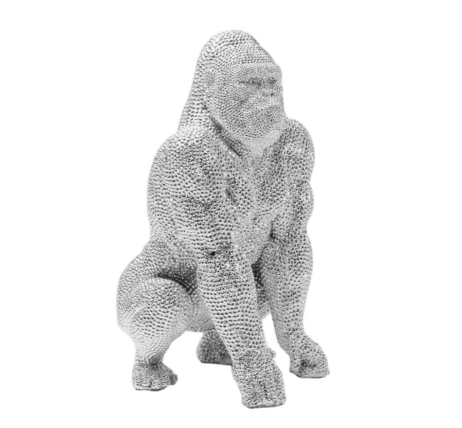 Déco gorille strass argentés 46cm Kare Design