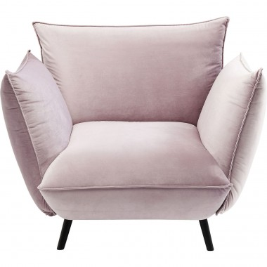Fauteuil Molly velours rose Kare Design