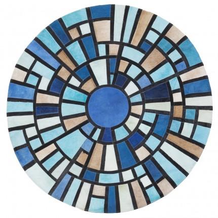 Tapis rond Freccetta bleu 150cm Kare Design