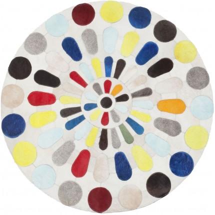 tapis rond multicolore campo kare design. Black Bedroom Furniture Sets. Home Design Ideas