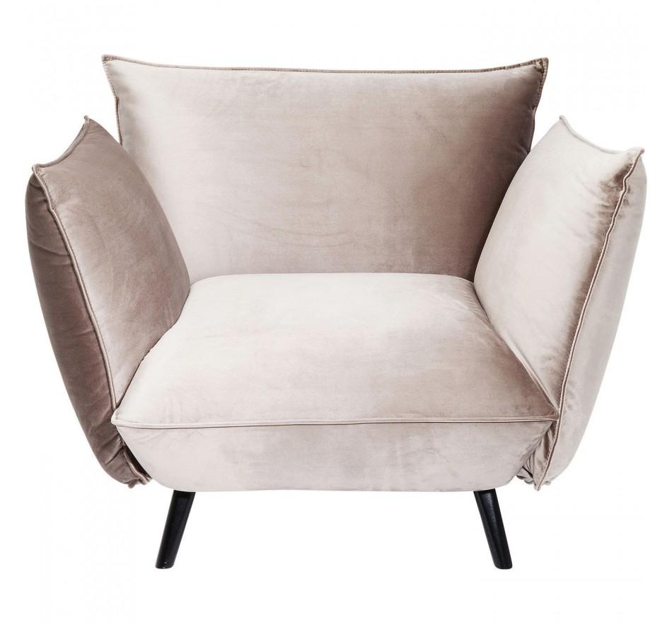 Fauteuil Molly velours gris Kare Design