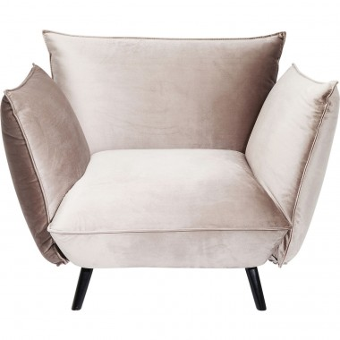 Fauteuil Molly velours gris Kare Design