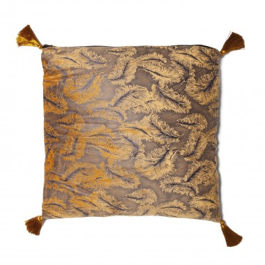 Coussin Feathers jaune 45x45cm Kare Design