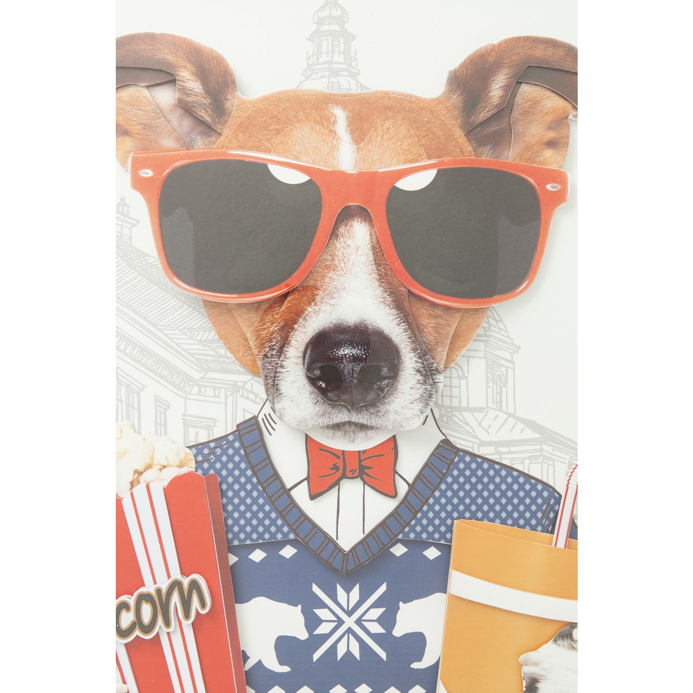 Tableau Frame Art chien cinéma 50x50cm Kare Design