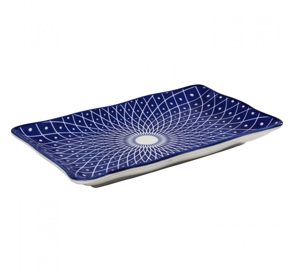 Plat Blu Ora rectangulaire 20cm Kare Design