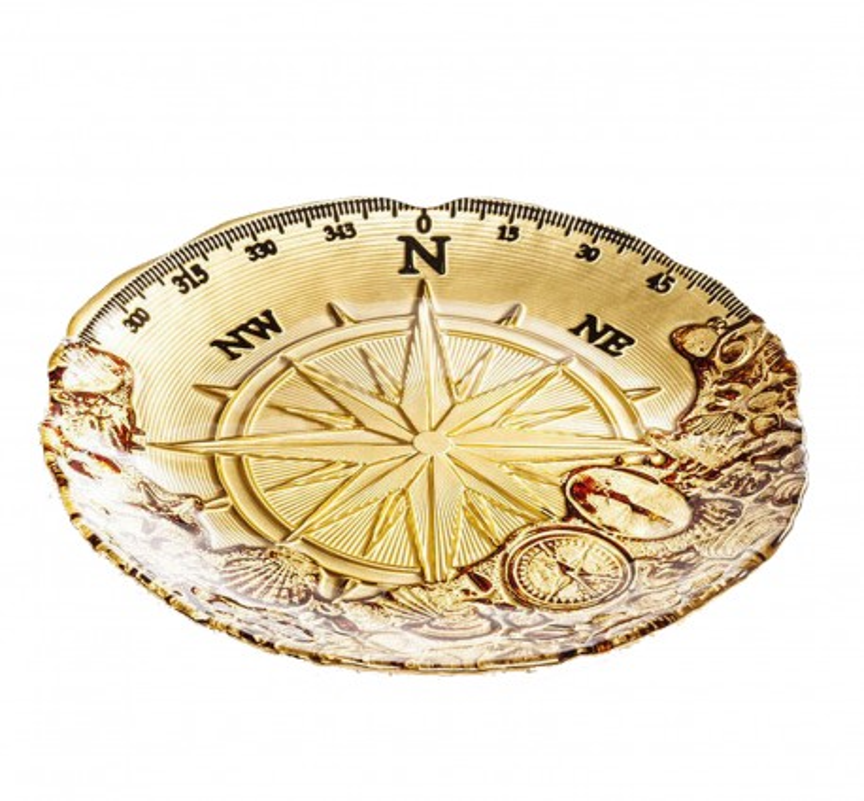 Coupe Compass doré 21cm Kare Design