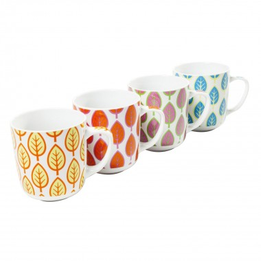 Tasses feuilles set de 4 Kare Design