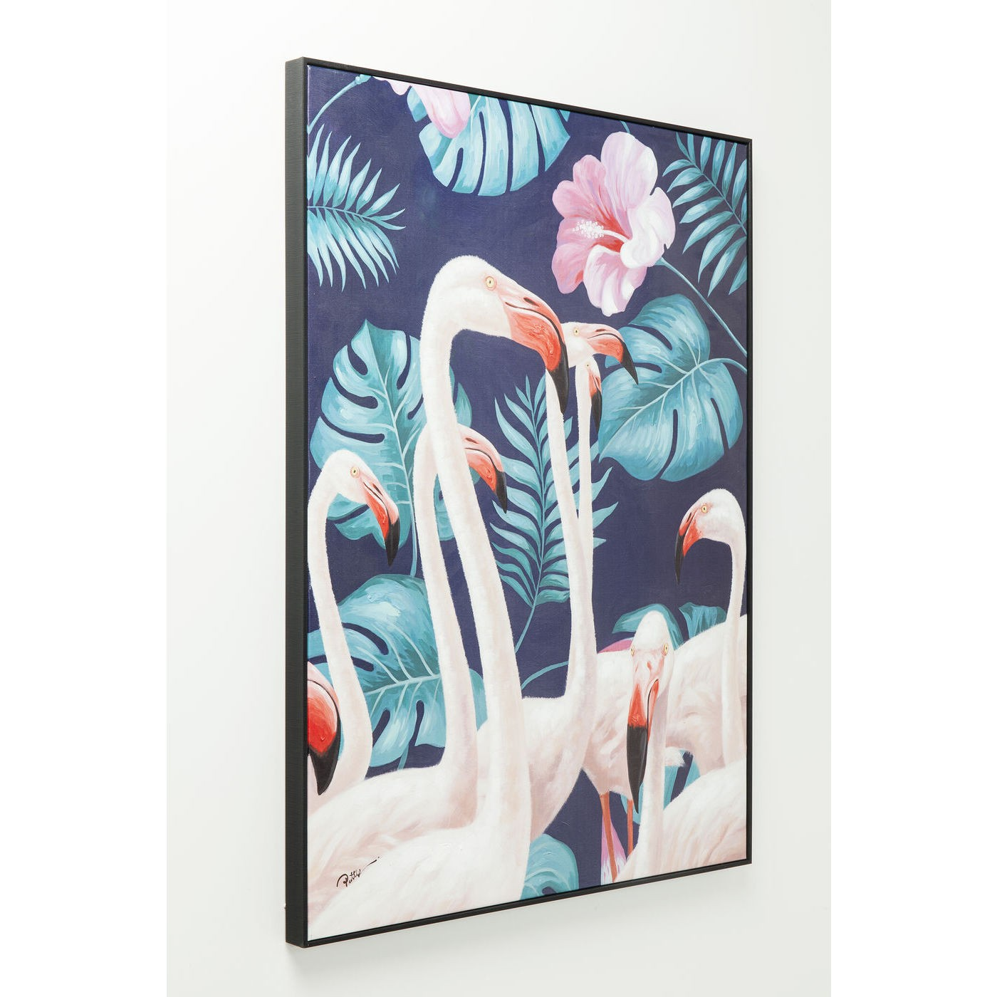 Tableau Frame flamants roses jungle 92x122cm Kare Design