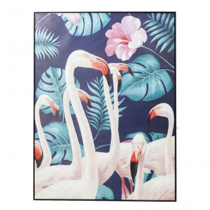 Tableau Frame flamants roses jungle 122x92cm Kare Design