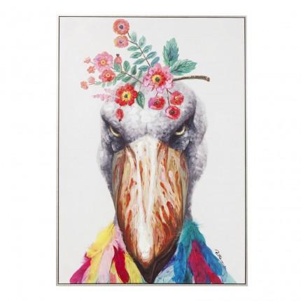 Tableau Touched oiseau d'Afrique 102x72cm Kare Design