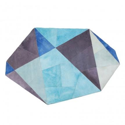 Tapis Pezzo bleu 170x240cm Kare Design