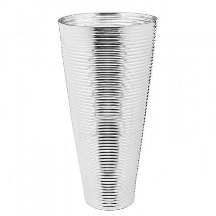 Vase Turbine argenté 50cm Kare Design