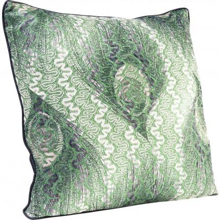 Coussin paon vert 45x45cm Kare Design