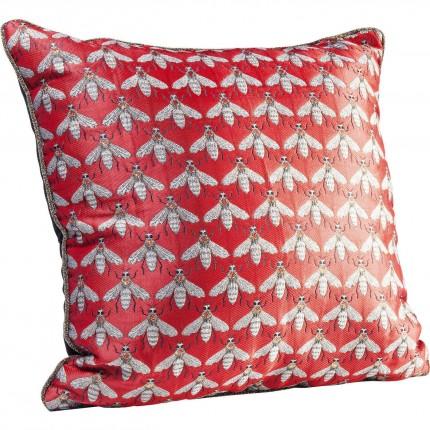 Coussin rouge abeille 45x45cm Kare Design