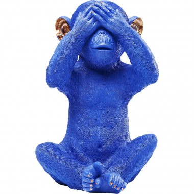 Tirelire Monkey Mizaru bleue Kare Design