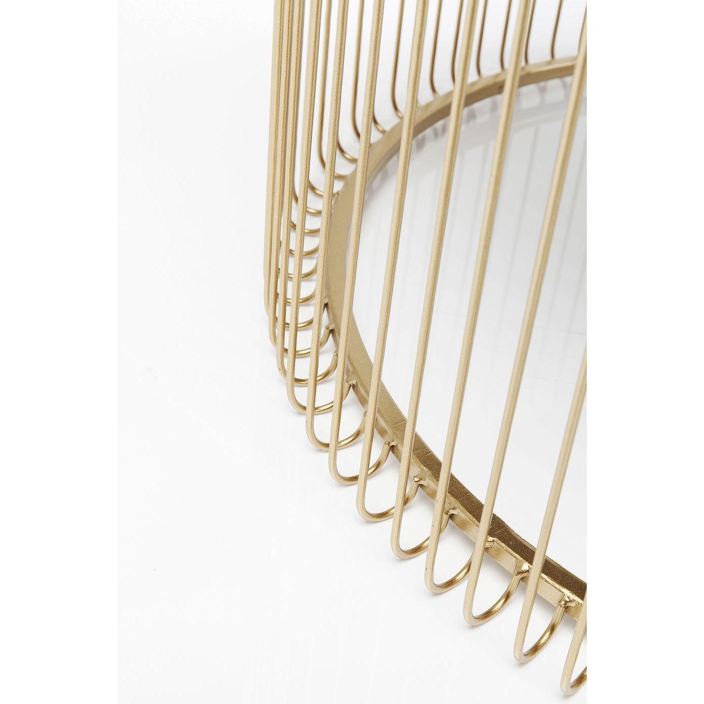 Tables basses rondes Wire set de 2 laiton Kare Design