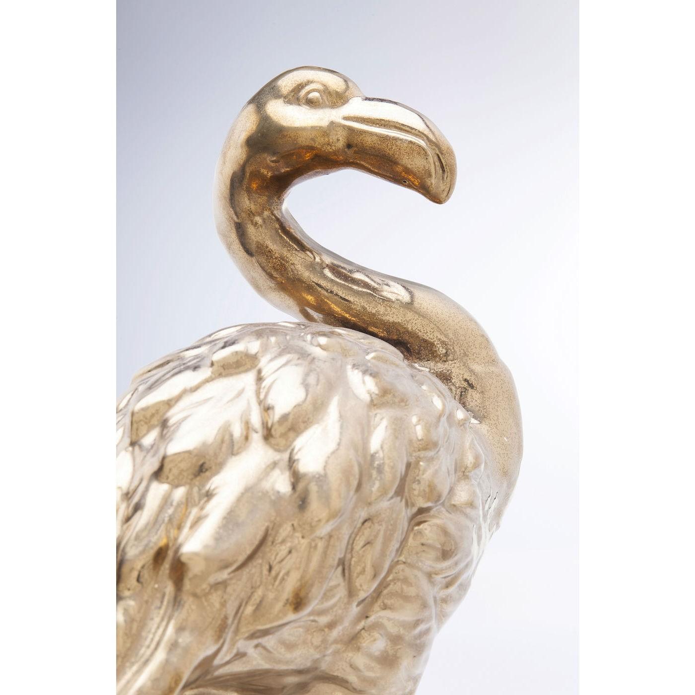 Déco flamant rose doré 51cm Kare Design
