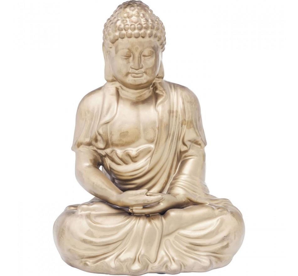 Déco Asie dorée méditation 42cm Kare Design