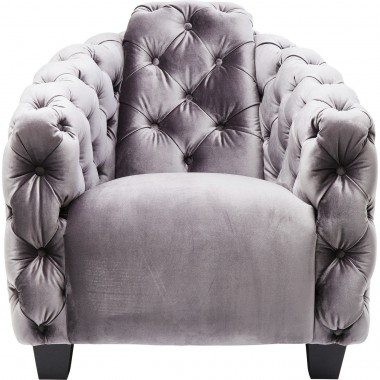 Fauteuil Desire Lounge gris anthracite Kare Design