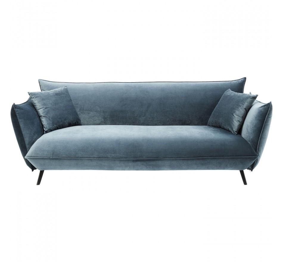 Canapé Molly 3 places bleu Kare Design