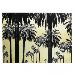 Tableau en verre Metallic Palms120x180cm Kare Design