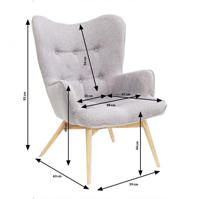 Kare Fauteuil Scandinave Design Vicky Gris 6vIybY7gf