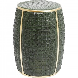 Table d'appoint Croco verte 46cm Kare Design
