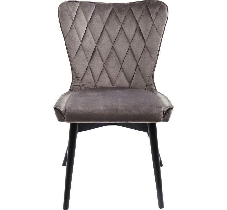 Chaise en velours Marshall Velvet Gris Kare Design