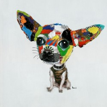 Peinture à l´huile Chihuahua 100x100 Kare Design