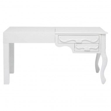 Bureau Janus all White 140x60cm 2 tiroirs Kare Design