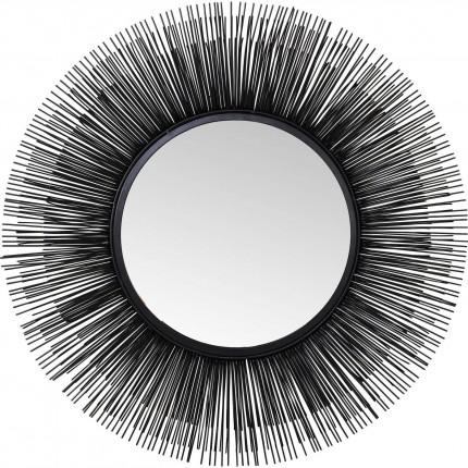 Miroir Sunburst noir 87cm Kare Design