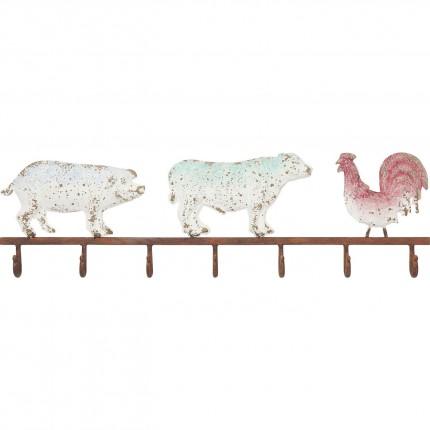 Portemanteau mural animaux de la ferme Kare Design