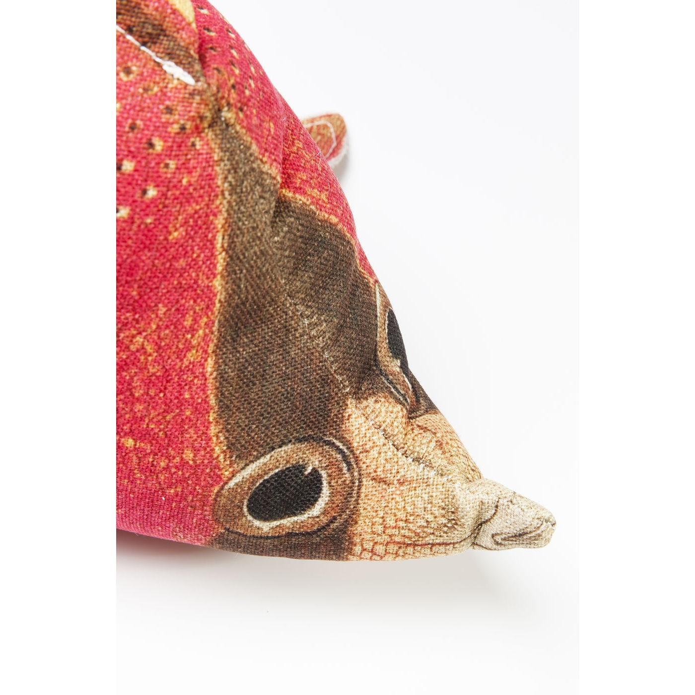 Coussin Shape Poisson rouge 33x62cm Kare Design