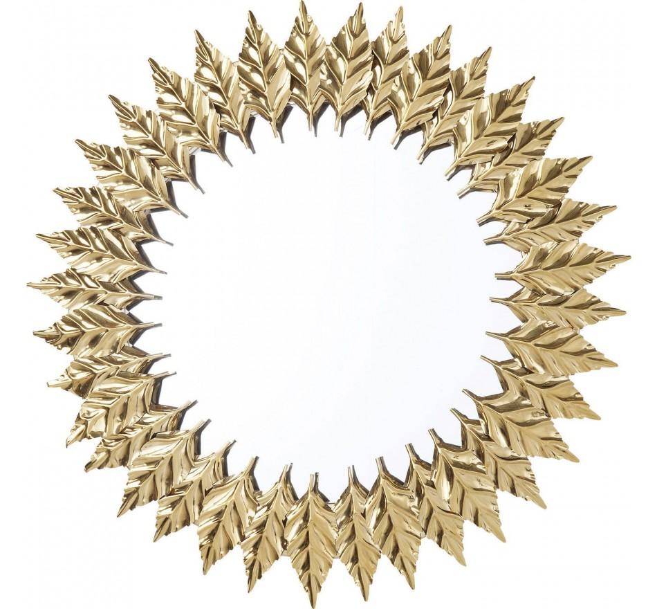 Miroir Feuilles dorées 76cm Kare Design