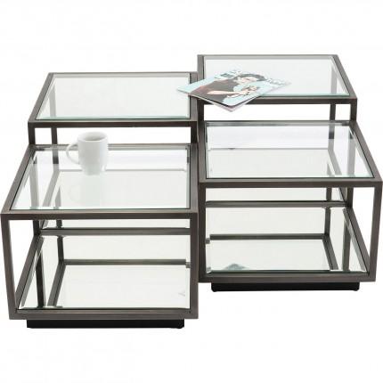 Tables basses Luigi noires set de 4 Kare Design
