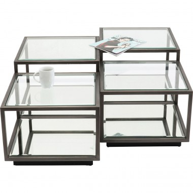 Tables basses Luigi noires set de 4 Kare Design