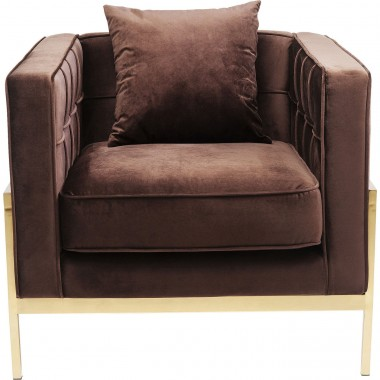Fauteuil Loft marron velours Kare Design