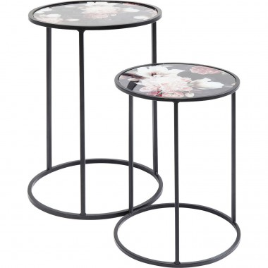 Tables d'appoint Pivoines set de 2 Kare Design