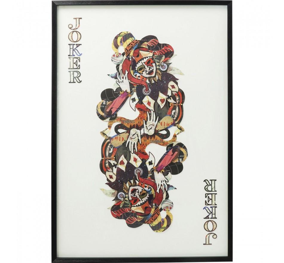 Tableau Frame Art Joker 145x100cm Kare Design